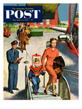 """Space Traveller"" Saturday Evening Post Cover, November 8, 1952 Giclee Print by Amos Sewell"