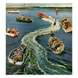 &quot;Making a Wake&quot;, July 26, 1958 Reproduction proc&#233;d&#233; gicl&#233;e par Ben Kimberly Prins