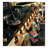 """Chocolate Easter Bunnies"", March 25, 1950 Giclee Print by Stevan Dohanos"
