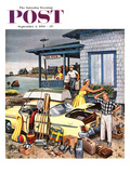 """Packing the Car"" Saturday Evening Post Cover, September 8, 1956 Giclee Print by Stevan Dohanos"