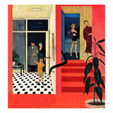 """Early Guests"", November 23, 1957 Giclee Print by George Hughes"