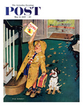 """Happy Mother's Day"" Saturday Evening Post Cover, May 11, 1957 Giclee Print by Richard Sargent"
