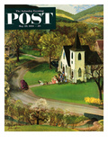 """Rural Wedding"" Saturday Evening Post Cover, May 29, 1954 Giclee Print by John Clymer"