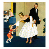 """Formal Hug"", February 15, 1958 Giclee Print by Amos Sewell"