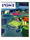 """No Vacancy"" Saturday Evening Post Cover, August 29, 1953 Giclee Print by Thornton Utz"