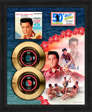 Elvis Presley - Blue Hawaii 50th Anniv. (Can'tHelp/RockaHula) Gold 45's Framed Memorabilia