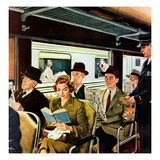 """This Does Not Commute"", September 24, 1955 Giclee Print by George Hughes"