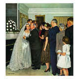 """Receptions Line"", June 16, 1951 Giclee Print by John Falter"