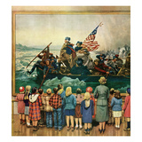 """Washington Crossing the Delaware"", February 24, 1951 Giclee Print by Stevan Dohanos"