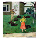 """Put the Tree There"", April 9, 1955 Giclee Print by George Hughes"