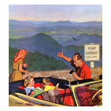 """Lookout Point"", July 18, 1953 Giclee Print by Richard Sargent"