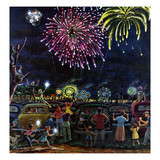 &quot;Fireworks&quot;, July 4, 1953 Reproduction proc&#233;d&#233; gicl&#233;e par Ben Kimberly Prins