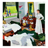 """Messy Room, Neat Boys"", October 22, 1955 Giclee Print by George Hughes"