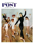 &quot;Ballet Class&quot; Saturday Evening Post Cover, November 3, 1956 Reproduction proc&#233;d&#233; gicl&#233;e par George Hughes