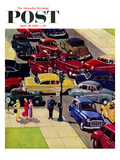 """Traffic Jam"" Saturday Evening Post Cover, April 28, 1956 Giclee Print by Earl Mayan"