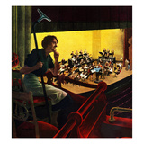 """Orchestra Rehearsal"", January 13, 1951 Giclee Print by George Hughes"