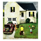 """Home from Vacation"", August 23, 1952 Giclee Print by John Falter"