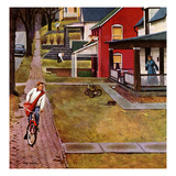 """Paperboy"", April 14, 1951 Giclee Print by John Falter"