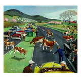 """Slow Mooving Traffic"", April 11, 1953 Giclee Print by Ben Kimberly Prins"