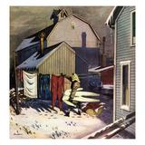 """""""Frozen Laundry"""", March 8, 1952 Reproduction procédé giclée par Stevan Dohanos"""