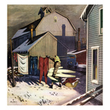"""Frozen Laundry"", March 8, 1952 Giclee Print by Stevan Dohanos"