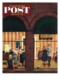 """Dancing Class"" Saturday Evening Post Cover, May 10, 1952 Giclee Print by Stevan Dohanos"