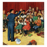 """School Orchestra"", March 22, 1952 Giclee Print by Amos Sewell"