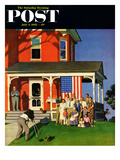 """Family Portrait on the Fourth"" Saturday Evening Post Cover, July 5, 1952 Giclee Print by John Falter"