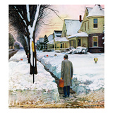 """Snowy Ambush"", January 24, 1959 Giclee Print by John Falter"