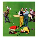 """""""Eighteenth Hole"""", August 6, 1955 Reproduction procédé giclée par John Falter"""
