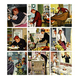 """Mr. Mom"", May 12, 1956 Reproduction procédé giclée par Thornton Utz"