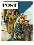 """Shooting Gallery"" Saturday Evening Post Cover, September 12, 1953 Giclee Print by Constantin Alajalov"