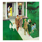 """Sunday Afternoon Callers"", June 17, 1950 Giclee Print by George Hughes"