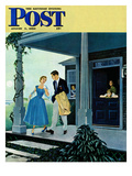 """Date for the Dance"" Saturday Evening Post Cover, August 5, 1950 Giclee Print by George Hughes"