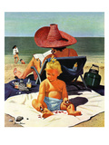 """Baby & Nail Polish"", July 22, 1950 Reproduction procédé giclée par Stevan Dohanos"