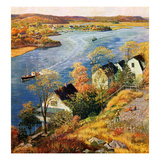 """Gloucester Harbor"", November 14, 1959 Giclee Print by John Clymer"