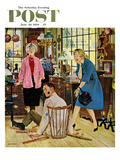 """Broken Antique Chair"" Saturday Evening Post Cover, June 20, 1959 Giclee Print by John Falter"