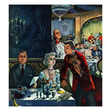 """Pricey Dinner"", October 15, 1955 Giclee Print by Constantin Alajalov"