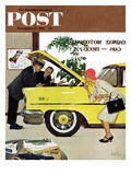 """Checking it Out"" Saturday Evening Post Cover, November 15, 1958 Reproduction procédé giclée par Kurt Ard"