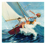 """Seasick Sailor"", August 22, 1959 Giclee Print by Richard Sargent"