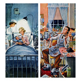 """Baby Talk"", July 30, 1955 Giclee Print by Constantin Alajalov"