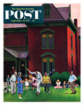 """Croquet Game"" Saturday Evening Post Cover, September 29, 1951 Giclee Print by John Falter"