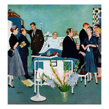 &quot;Patient Visitors&quot;, February 18, 1956 Reproduction proc&#233;d&#233; gicl&#233;e par George Hughes