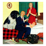 """Dr. and the Dog"", November 21, 1953 Giclee Print by Richard Sargent"