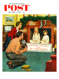 """Christmas Photograph"" Saturday Evening Post Cover, December 11, 1954 Giclee Print by Amos Sewell"