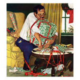 """All Wrapped Up in Christmas"", December 19, 1959 Giclee Print by Richard Sargent"