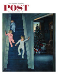 """Christmas Morning"" Saturday Evening Post Cover, December 24, 1955 Giclee Print by John Falter"