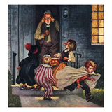 """Tricking Trick-Or-Treaters"", November 3, 1951 Giclee Print by Amos Sewell"