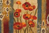 Ikat Floral Tapestry Art by Silvia Vassileva