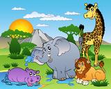 Animales africanos I Lámina por Klara Viskova